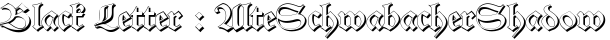 AlteSchwabacherShadow English Font