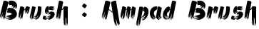 Ampad Brush English Font