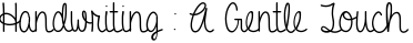 A Gentle Touch English Font