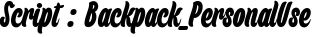 Backpack_PersonalUse English Font