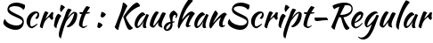 KaushanScript-Regular English Font